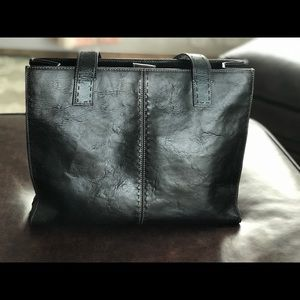 Fossil large leather tote